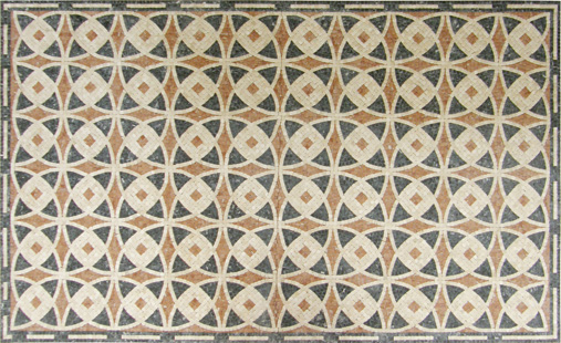 Natural stone tile mosaic medallion for floor and wall