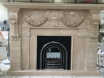 Marble Carving Fireplace