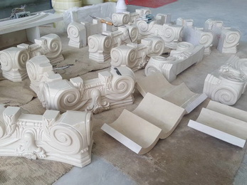 China high quality handmade natural indoor beige marble decorative hotel villa project