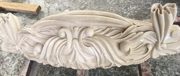 High quality Western Style handmade marble carving  columns pillars for hotel palace villa project