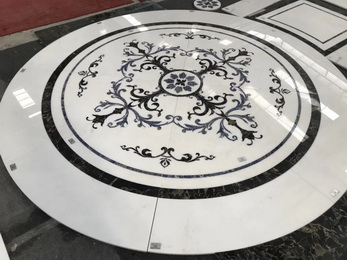 China Factory direct sale marble waterjet medallion flooring pattern design for project