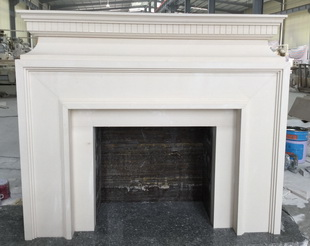 Hand Carved Home Decoration Marble Fireplace Surround