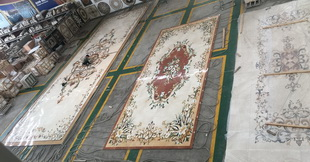 Flooring waterjet tile marble medallion designs decorate Arabic majlis for Palace and Villa project