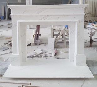 Natural marble factory wholesale fireplace mantel